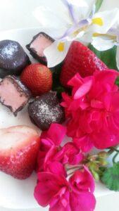 Strawberry Cream Truffles